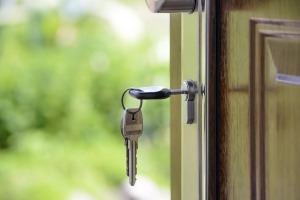 Key in front door.