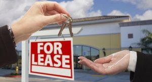 For Lease Sign and Keys